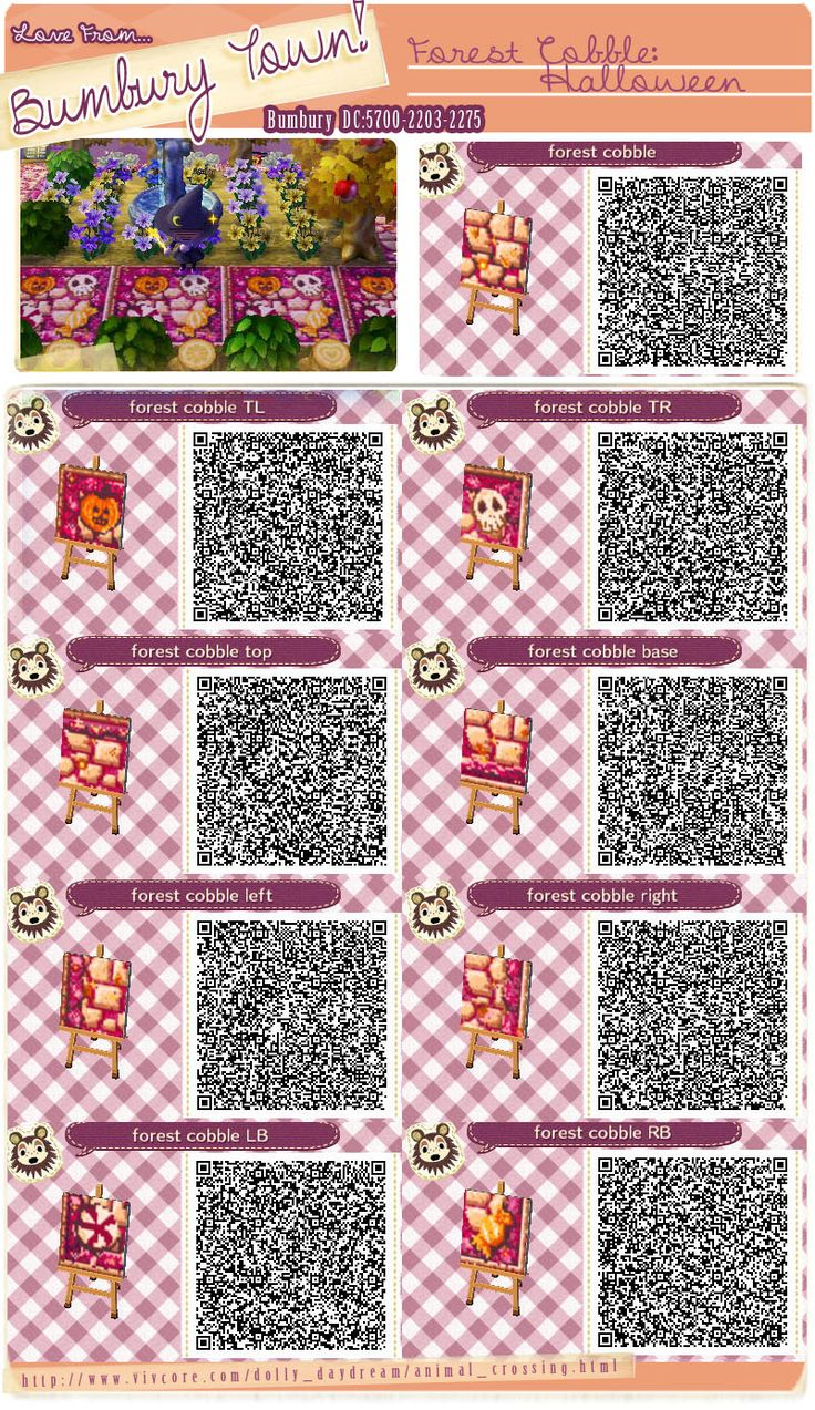 Animal crossing new leaf qr code paths pattern for Acnl boden qr codes