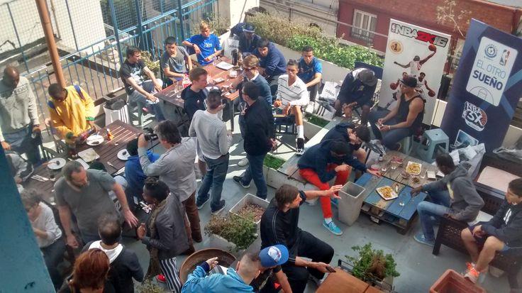 El otro sueño, torneo latinoamericano realizado por NBA y DirecTv los cuales eligieron nuestra terraza para agasajarlos con un tradicional asado argentino