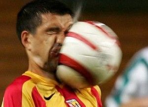 Yep been there. #soccer #funny Dat didnt hit him, he ate it!! ;D