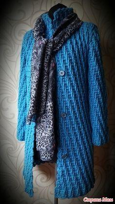 Пальто крючком - 100гр - 140м Alize lanagold plus кр.6. Расход 1500гр р-р 46. - только схема рисунка