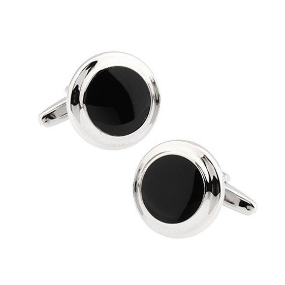 Cufflink- Onyx    Black Onyx cufflinks have always been the mainstay in men's formal fashion. Level up your tuxedos with this rich and classic pair. It's the little details that matter!    Made with rhodium plated alloy, which does not tarnish or rust over time. No polishing required.