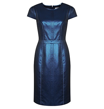 David Lawrence | Dresses - DL Atelier - Luxury Metallic Sparkle Seam Detail Shift Dress