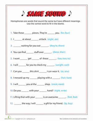 same sound different spelling education 3rd grade english spelling worksheets grammar. Black Bedroom Furniture Sets. Home Design Ideas
