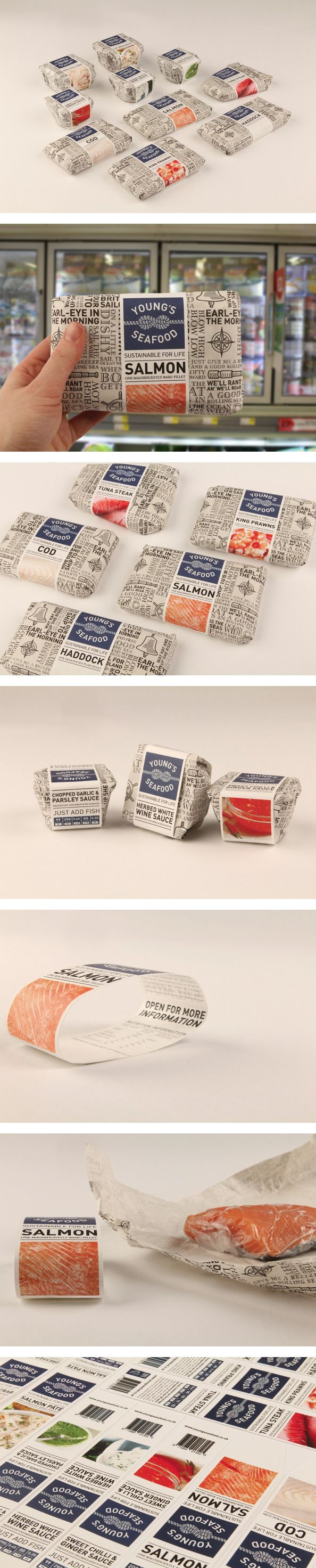 Young's Seafood by Emily Myers, via Behance   #packaging #seafood #awesome i love this, i really do.