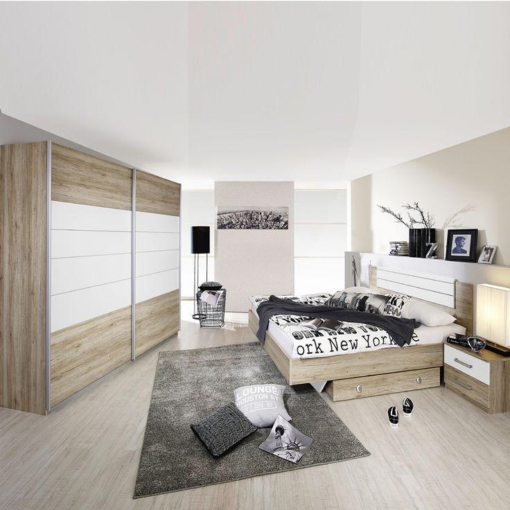 Die besten 25+ Eiche Schlafzimmermöbel Ideen auf Pinterest Bett - schlafzimmer massiv komplett