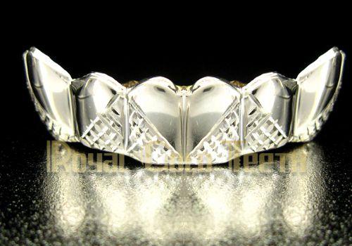 Type Bottom Grillz - White Gold Grillz Model BW-605 Price $170 Description 10k 6 pc
