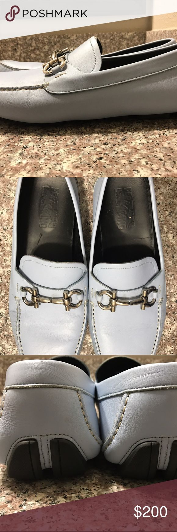 Men's Salvatore Ferragamo Loafers Size 13 Men's Salvatore Ferragamo Loafers   Size 13  Powder Blue  Worn a number of times   Good Condition  No Box  Wiped down before shipping  Shipping (2-3 days) Salvatore Ferragamo Shoes Loafers & Slip-Ons