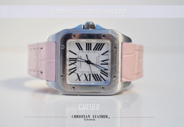 Custom Cartier Alligator Leather Watch Strap Available in Many Custom Sizes and Colors by ChristianStraps on Etsy