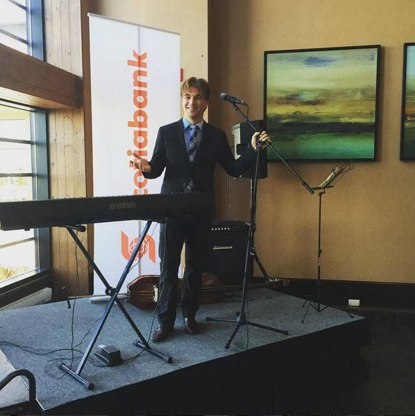 Our LIVE duo (piano & standup bass) performing for a Scotiabank meet and greet at the lovely Blue Mountain Village Conference Centre