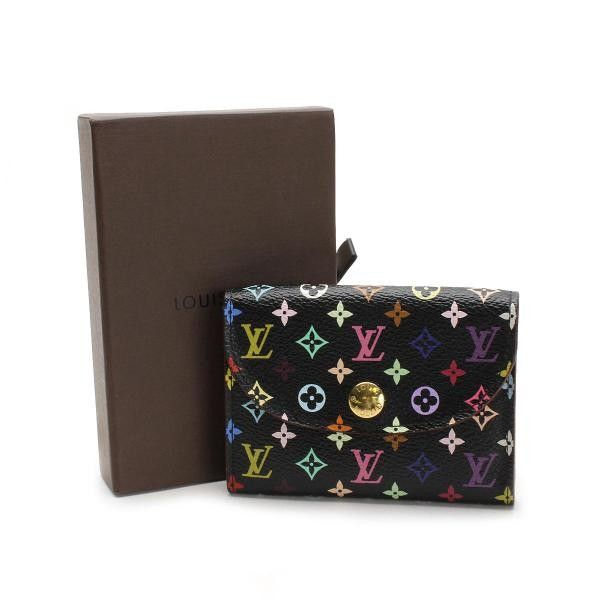 Louis Vuitton Enveloppe Carte De Visite Monogram Multicolore Other Black Canvas M66561