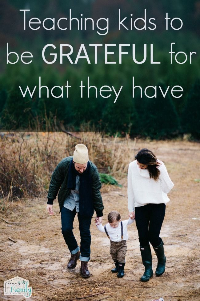 Teaching Kids to be Grateful for What they Have