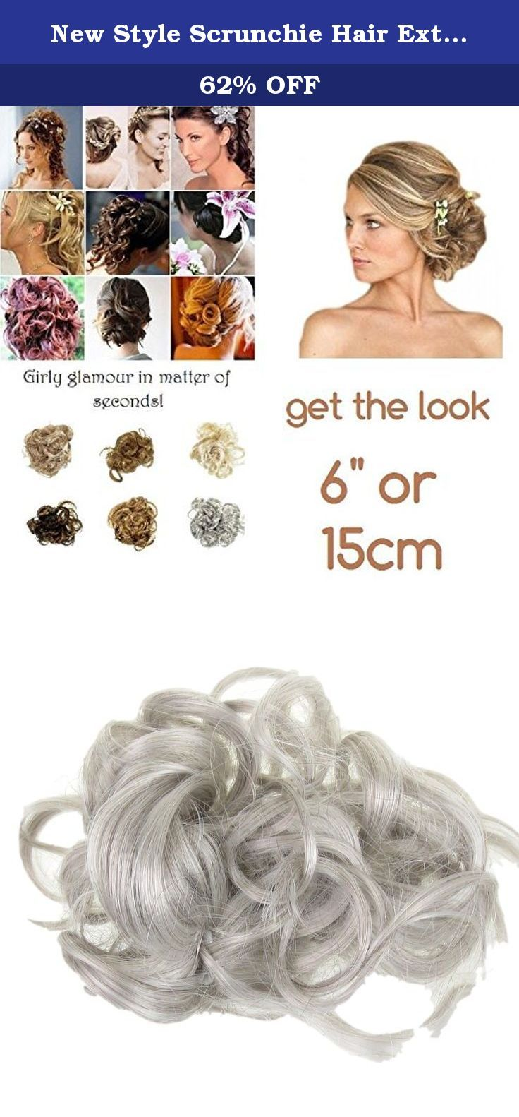 New Style Scrunchie Hair Extension Curly Up Do (Silver Grey Mix) Synthetic. Instant Girly Curly Style! A simple, little, luxurious, body creating, scrunchie. Twist on elastic so that you can vary the shape, anyone can manage the Bardot famous look. Never have a bad hair day again. Try this Multi Use curly Twister! Twister is a fabulous product you can create an updo or large bun in seconds! Wear two for an even higher curly messy look. Wear as an up do twisted round a high pony. This is…