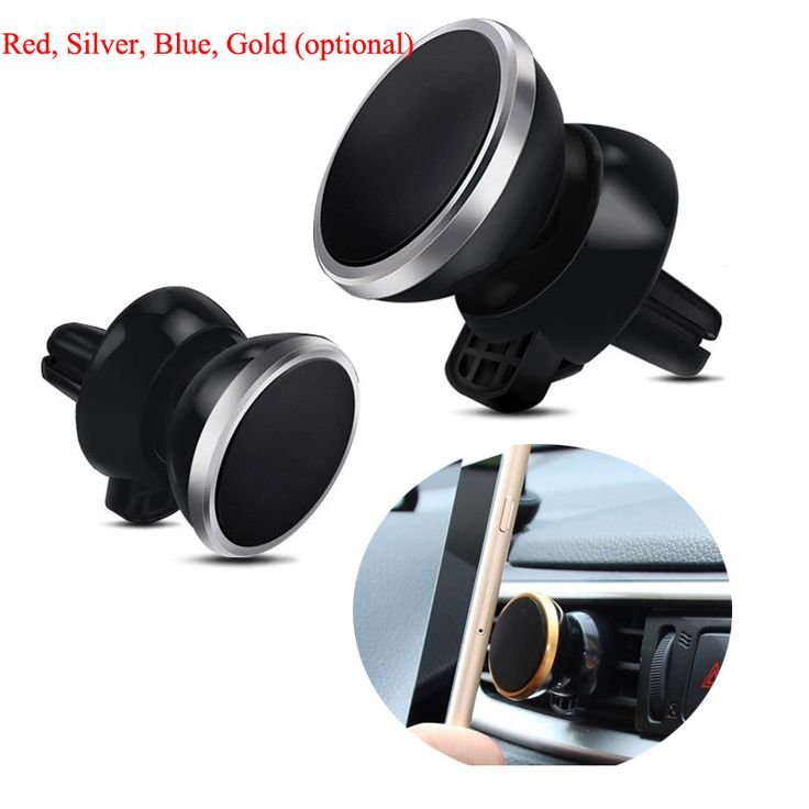 Universal Car Air Outlet Magnet Mobile Phone Holder 360 Degree Rotate Navigation Air Conditioning Mouth Magnetic Phone Support