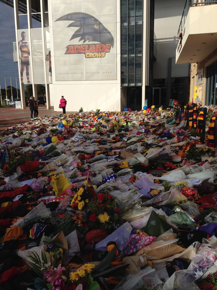 Tributes to Adelaide Crows coach Phil Walsh at Adelaide Football Club, AAMI Stadium. An amazing and emotional sight to see.