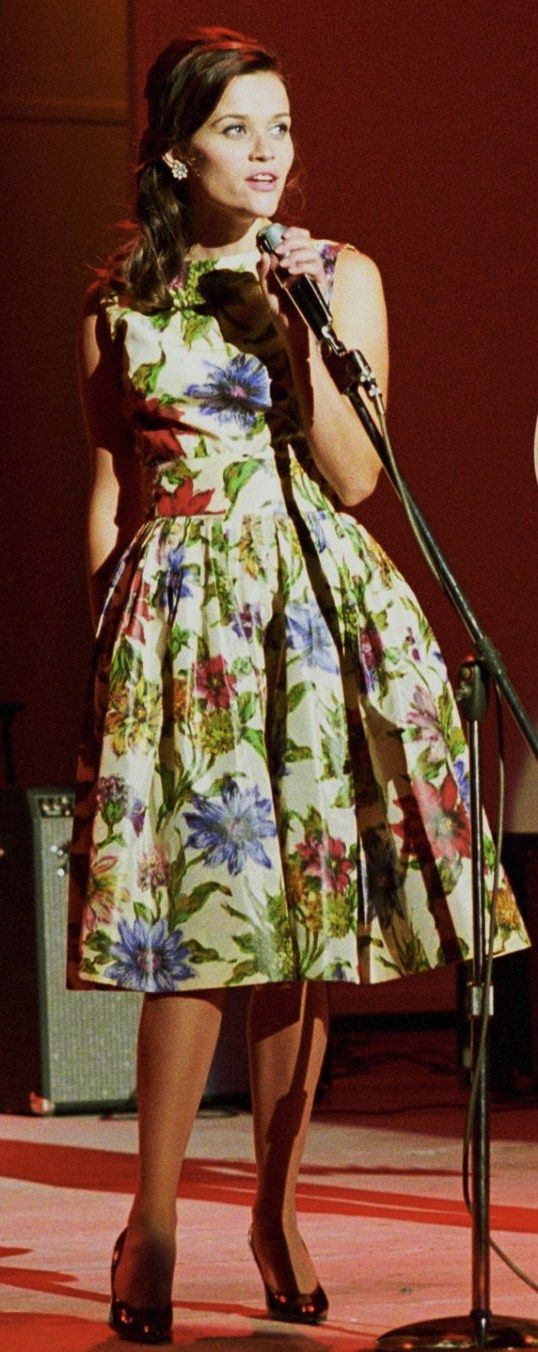 Reese Witherspoon's 50's floral dress in Walk the Line. Costumes by Arianne Phillips