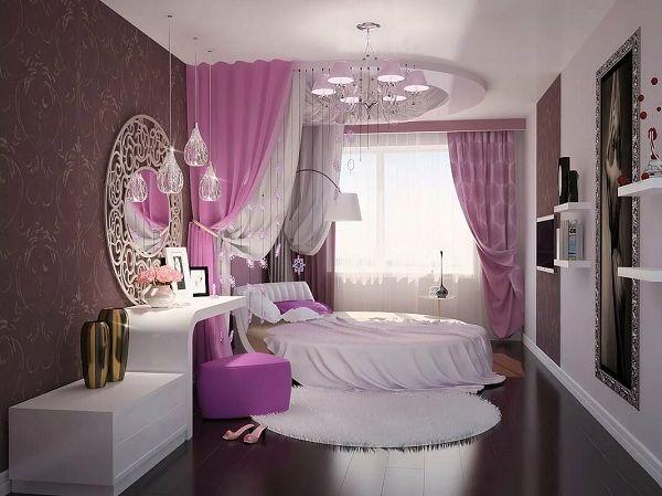 ديكورات غرف نوم بنات كبار 2019 كاملة بالصور False Ceiling Living Room False Ceiling Bedroom Ceiling Design Bedroom