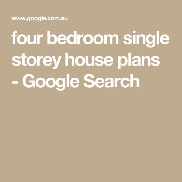 Marvelous four bedroom single storey house plans Google Search Haus pl ne