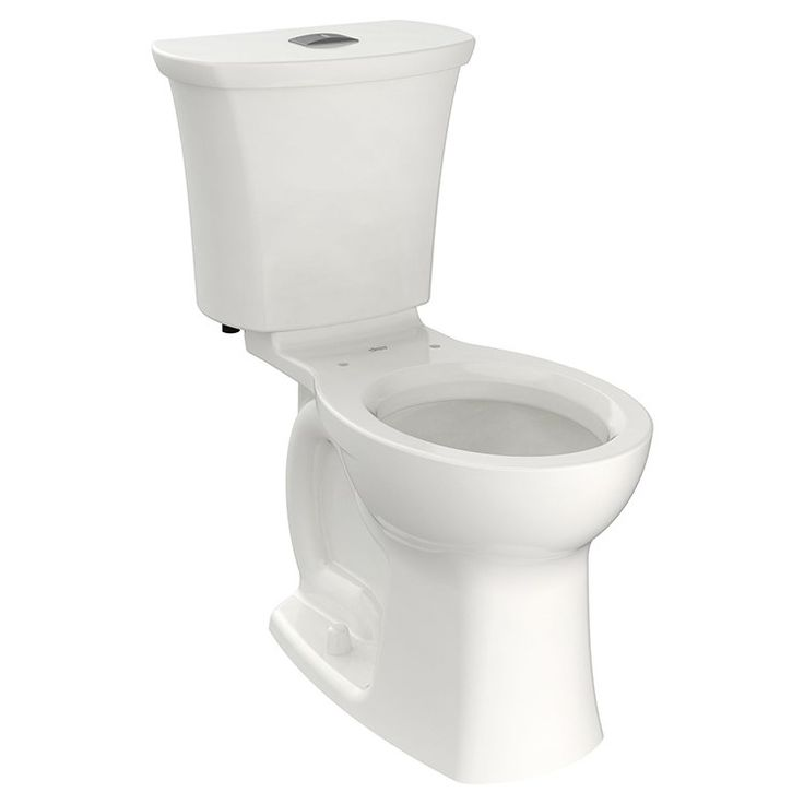 Edgemere Right Height Dual Flush Round Two Piece Toilet Without Seat Dual Flush Toilet American Standard Toilet