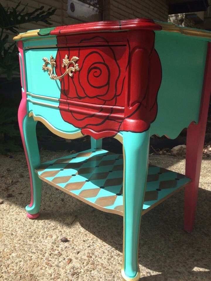 Though she be but little, she is fierce.  French Provincial Nightstand.  Traceysfancy etsy.com