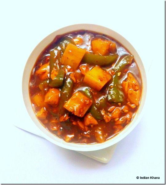 Vegetarian tofu pineapple manchurian, Indo Chinese recipe