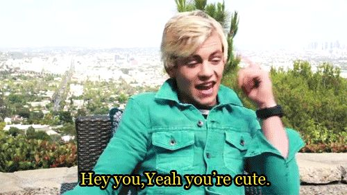 Imagine you are walking down the street and u are wearing a shirt that says i ❤️ross on it and then all of the sudden u c ross lynch across the street and he points to like this ^ and you get so exited cuz ross lynch likes your shirt