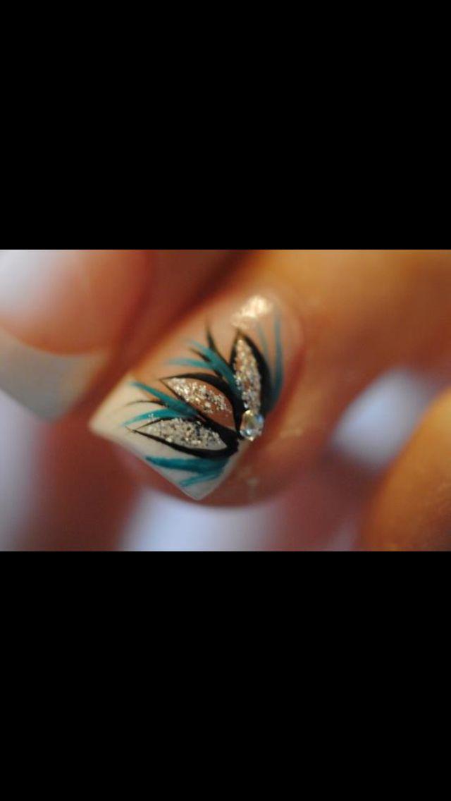 So pretty #blue #nail #design
