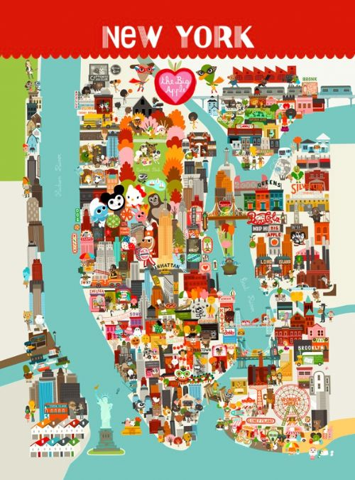 NYC poster map
