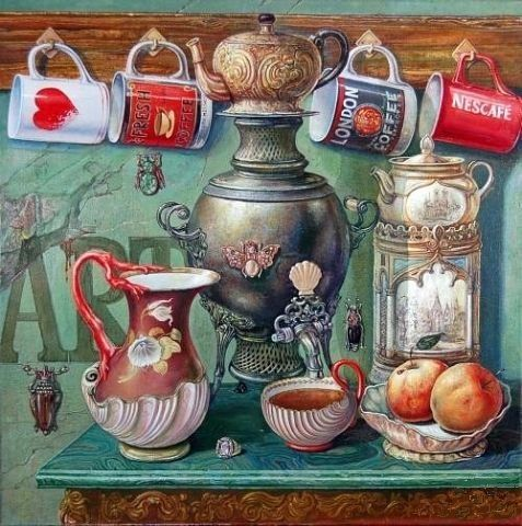 coffee painting.-.-.-.-