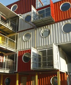 Container City II - architect: Nicholas Lacey and Partners - Trinity Buoy Wharf, London, England.