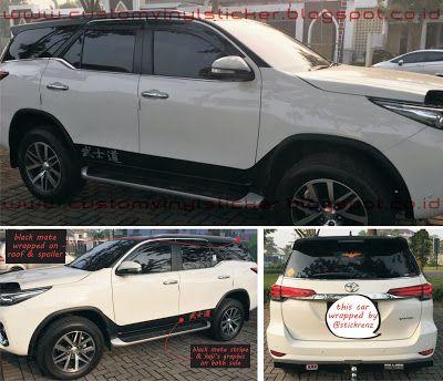 Toyota Fortuner White - Black Mate Roof & Spoiler ...