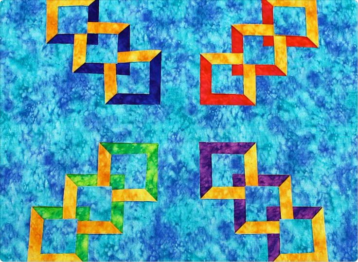 Change up your background ... with the Double Diamond Ruler available at www.BrightQuiltingNotions.com