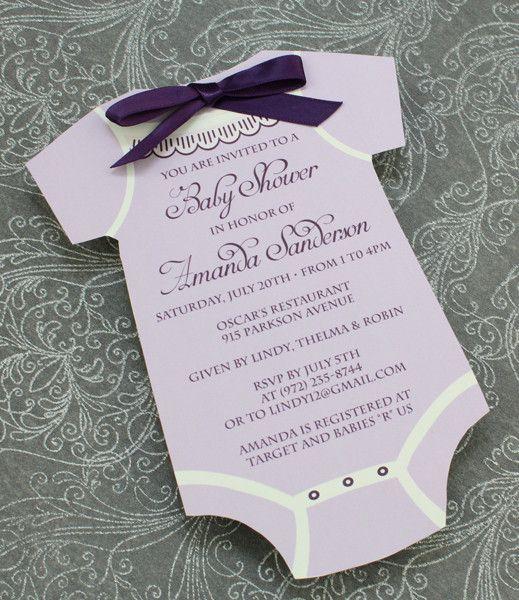 baby shower invitation template  girls onsie