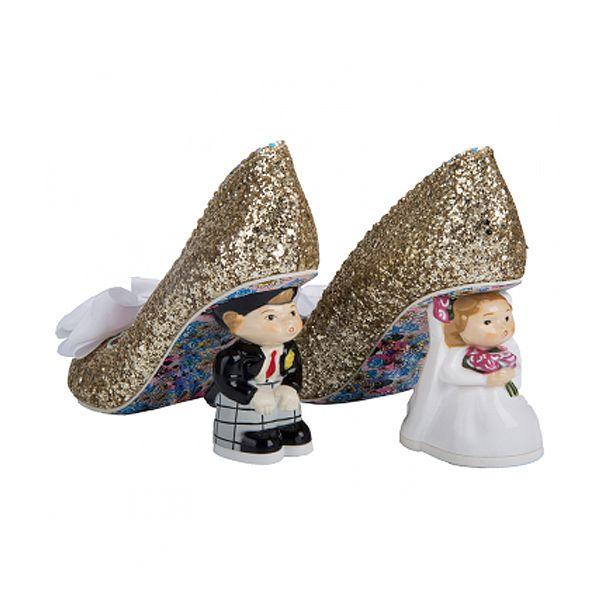 Mr Mrs Gold Alternative Wedding Shoes Irregular Choice