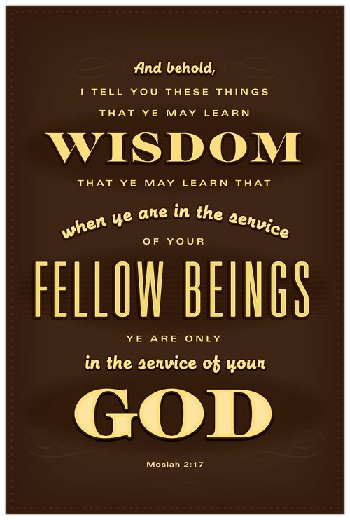 """Christlike Service - one of the """"Come Follow Me"""" lessons in October"""