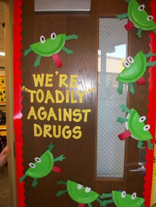 Classroom Decoration Ideas Pdf ~ Red ribbon week quot say no to drugs door decoration for a