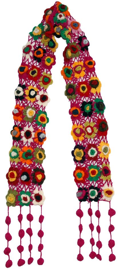 Romantic Crochet Fashion Scarf - Shop for bags, skirts, jewelry at The Little Bazaar