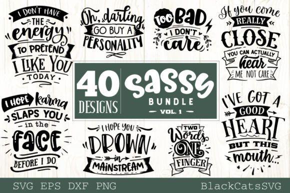 Download Sassy Bundle 40 Designs Graphic By Blackcatsmedia Creative Fabrica In 2020 Design Bundles Svg Design Karma Design