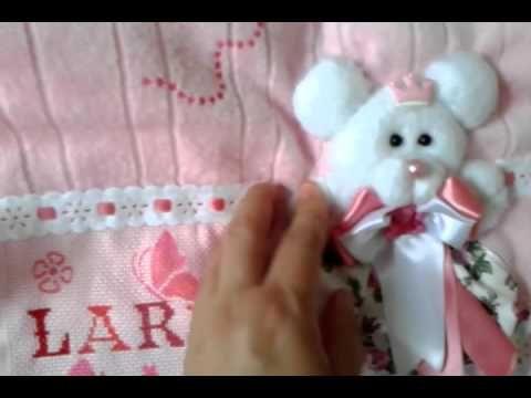 passo a passo  ursinho 3d  na toalhinha de bebê - YouTube
