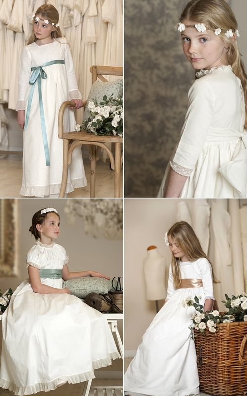 Vestidos de Primera Comunión ideales por menos de 100 euros...Communion dresses with sleeves..pretty