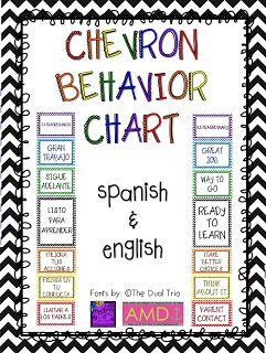 Chevron Behavior Chart In Spanish  English!! :)  The Dual Trio