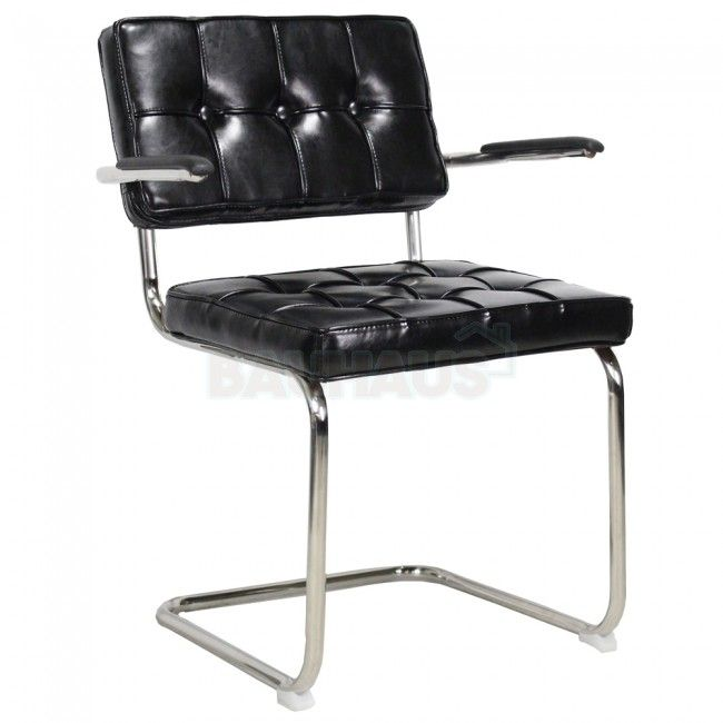 Bauhaus Look Stoelen.Bauhaus Design Eetkamerstoel Met Arm Vintage Zwart Vintage