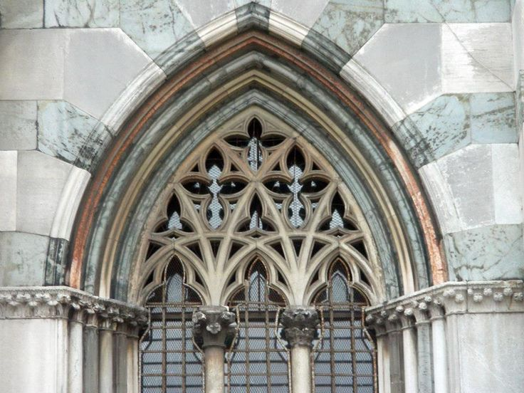 Lombardy, Monza, cathedral, facade, gothic window