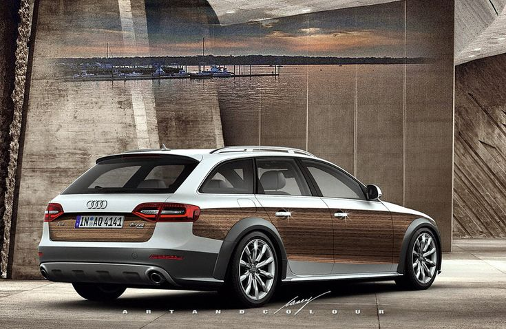 audi a4 black forest rendering by casey art color proof that a station wagon with wood. Black Bedroom Furniture Sets. Home Design Ideas
