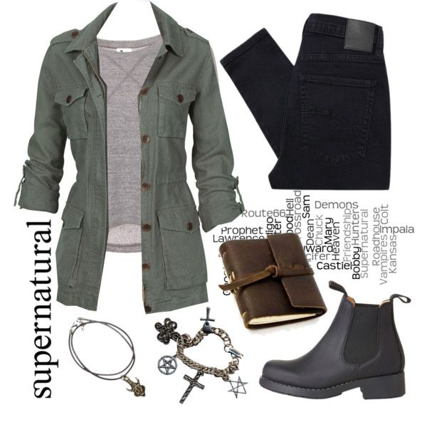 Supernatural by carminadu on Polyvore featuring L'Agence, Fat Face, Nobody Denim, Coven, Rustico, castiel, angels, demons, dean winchester and sam winchester