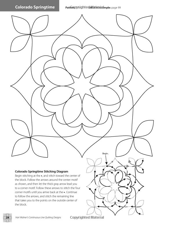 Hari Walner's Continuous-Line Quilting Designs: 80 Patterns for Blocks, Borders, Corners & Backgrounds