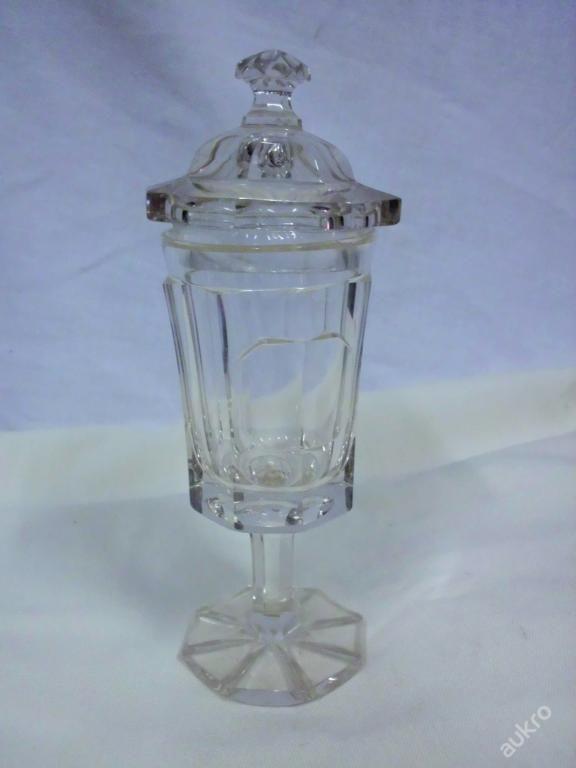 Biedermeier pohár - broušené olovnaté sklo
