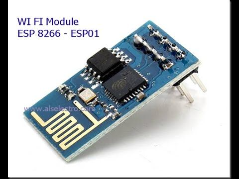 WIFI module ESP8266 - AT commands & sending Data to WebBrowser - YouTube