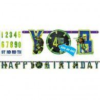 TMNT Letter Banner $16.95 A121194