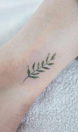botanical leaf tattoo