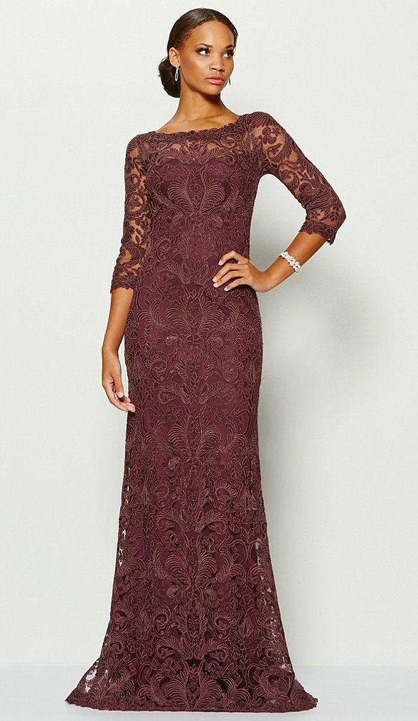 Wine Mother of the Bride Dresses